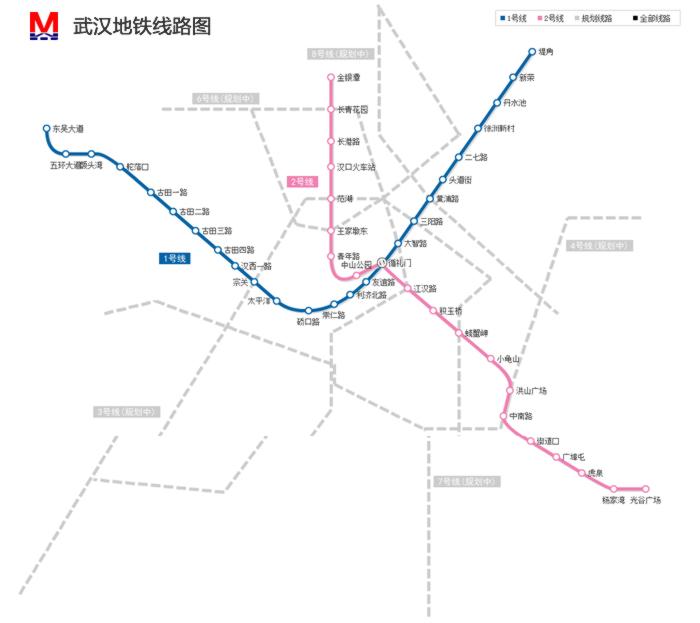 武汉市地铁规划图终极版